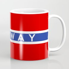 Norway country flag name text Mug