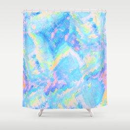 Blue Gemstone Shower Curtain