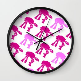 AT-AT's in Pinks Wall Clock