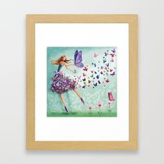 butterflydance Framed Art Print