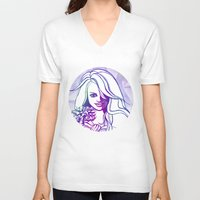 outer space V-neck T-shirts featuring Outer space by Lindella