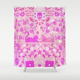 Kitten Lovers – Pink Ombré Shower Curtain