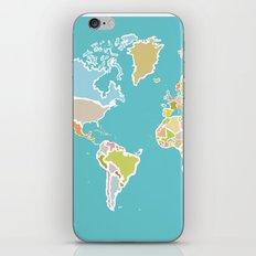 Map Print iPhone & iPod Skin