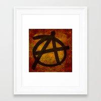 anarchy Framed Art Prints featuring Anarchy by BruceStanfieldArtist.DarkSide