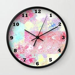 Glass Tiles Pastel Wall Clock