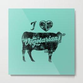 I Heart Vegetarians Metal Print