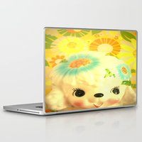 poodle Laptop & iPad Skins featuring sunshine poodle by Vintage  Cuteness