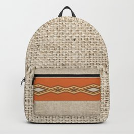Southwestern Earth Tone Texture Design Backpack