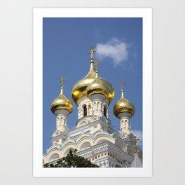 Onion Domes Alexander Nevsky Cathedral Art Print