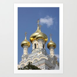 Onion Domes Alexander Nevsky Cathedral Art Print