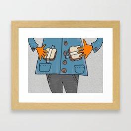 Tape on sandwiches Framed Art Print