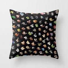 Animal Marathon Throw Pillow