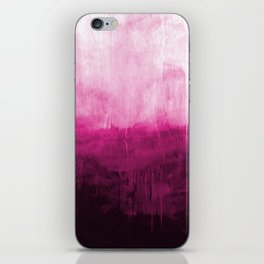 Paint 7 pink abstract painting ocean sea minimal modern bright colorful dorm college urban flat iPhone Skin