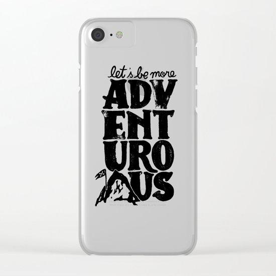 MORE ADVENTUROUS II Clear iPhone Case