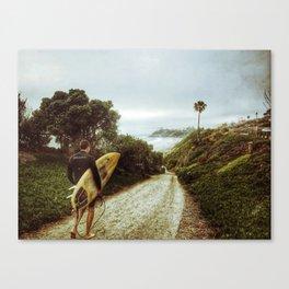 Surfer Boy, Cardiff, California Canvas Print