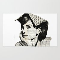 audrey Area & Throw Rugs featuring Audrey by Krzyzanowski Art
