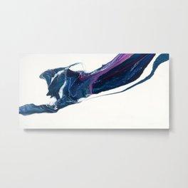 Walk on water abstract fluid art design, white blue purple Metal Print
