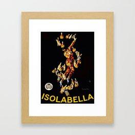 Vintage poster - Isolabella Framed Art Print
