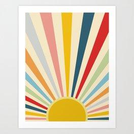Sun Shines Inside you Art Print