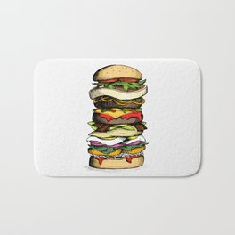 Now THIS is a burger. Bath Mat