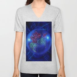 Abstract in perfection - Fertile Imagination Rose 2 Unisex V-Neck