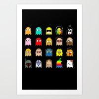 pac man Art Prints featuring pac man by sEndro