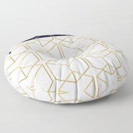 Blue & Gold Hexagon Floor Pillow