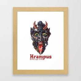 Gruss Vom Krampus Greetings From Christmas Demon Framed Art Print