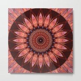 Mandala mystic flower Metal Print