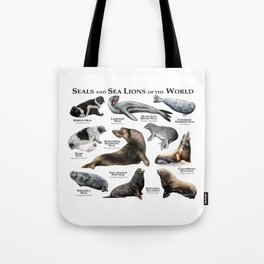 Seals and Seal Lions of the World Tote Bag