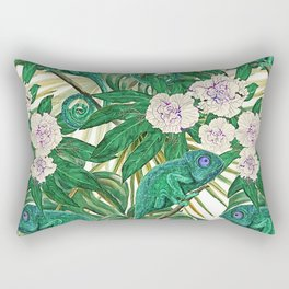 Chameleons and Camellias Rectangular Pillow