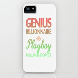 GENIUS TONY iPhone Case