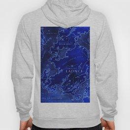 map blue Hoody