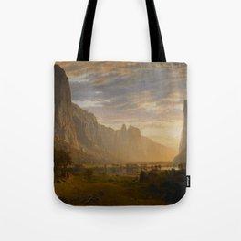 Looking Down Yosemite Valley, California Tote Bag