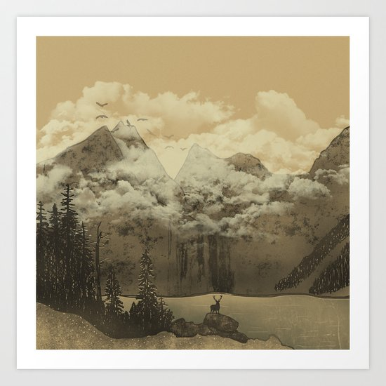 The Mountain Lake Art Print