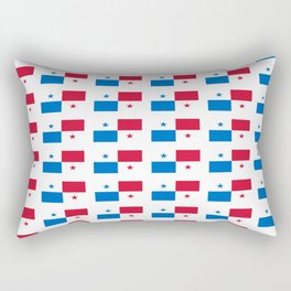 flag of panama 2 -Panama,Panamanian,canal,spanish,San Miguelito,Tocumen,latine,central america,panam Rectangular Pillow