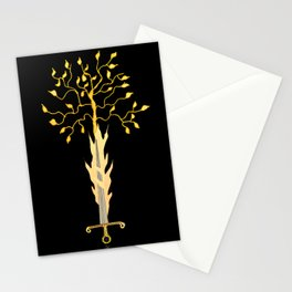 The Flaming Sword Guarding The Garden Stationery Cards