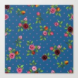 Boho Floral Canvas Print