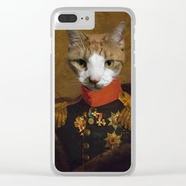 Sergeant Whiskers Clear iPhone Case