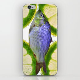 Lime Fish iPhone Skin