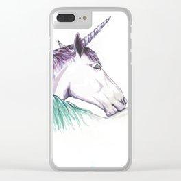 Unicorns in love II Clear iPhone Case
