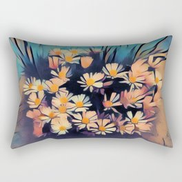 Artful Flowers Rectangular Pillow