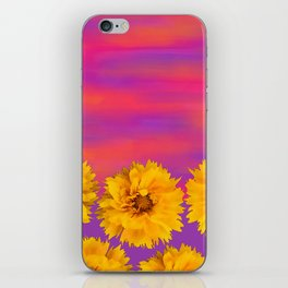 Yellow Floral Sunset iPhone Skin