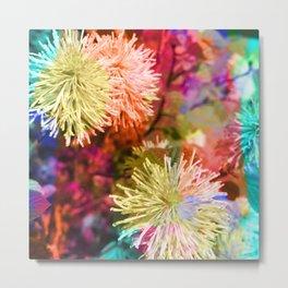 Technicolor Dream Flower Metal Print