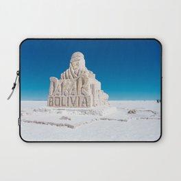 Dakar, Bolivia Monument in Salar de Uyuni, Salt Flats Laptop Sleeve