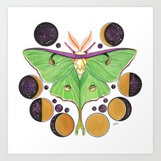 Lunar Moth Art Print