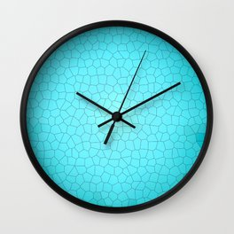 Glare on the water. Abstract Stained glass blue Wall Clock