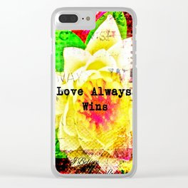 Love Always Wins Clear iPhone Case
