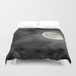Cloudy Moonlit Night Duvet Cover