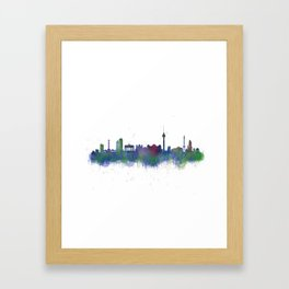 Berlin City Skyline HQ2 Framed Art Print